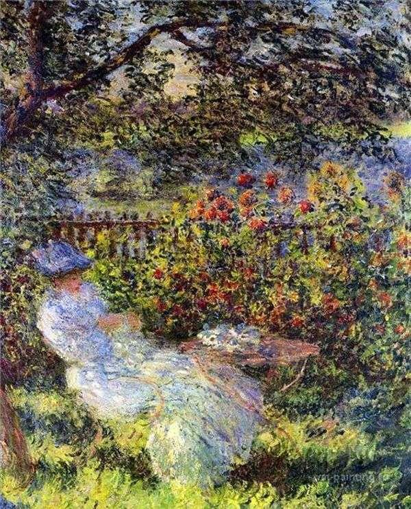 Алиса Ошеде в саду   Клод Моне