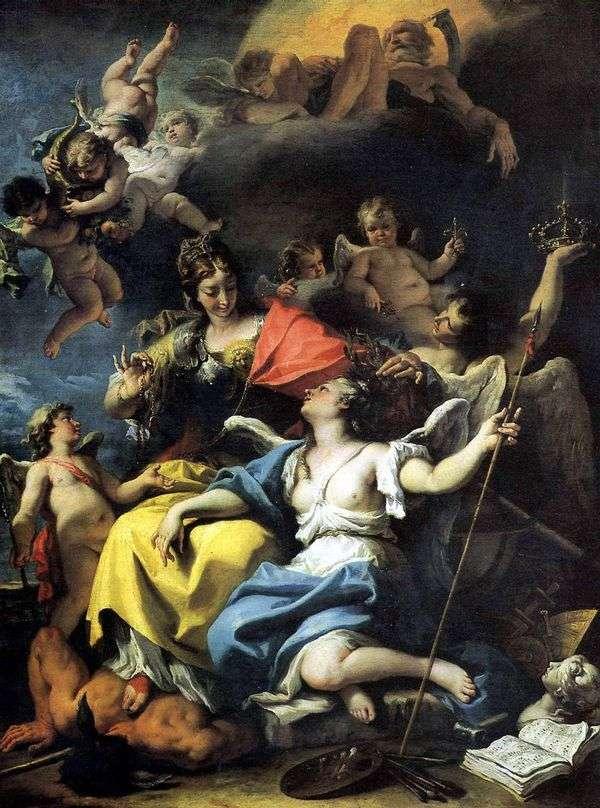 Аллегория Франции в образе Мудрости   Себастьяно Риччи