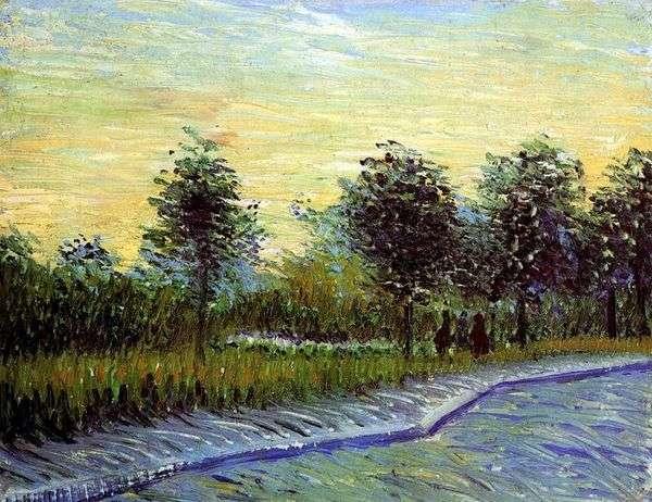 Аллея в парке дАржансон в Аньере   Винсент Ван Гог