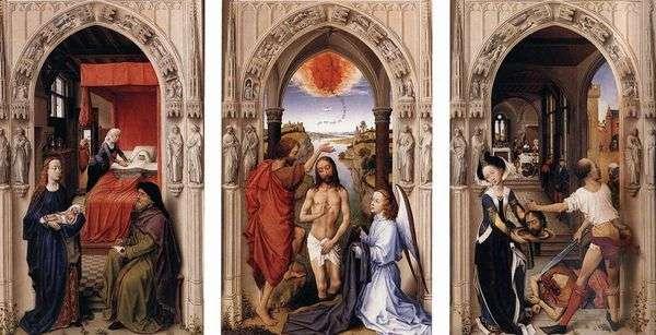 Алтарь святого Иоанна Крестителя   Рогир ван дер Вейден