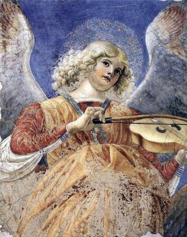 Ангел, играющий на виоле. Фрагмент фрески из церкви Санти Апостоли   Форли Мелоццо