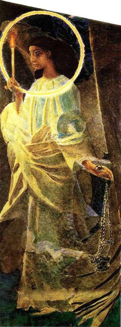 Ангел с кадилом и свечой   Михаил Врубель