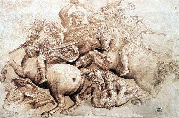 Ангиарийское сражение   Леонардо да Винчи