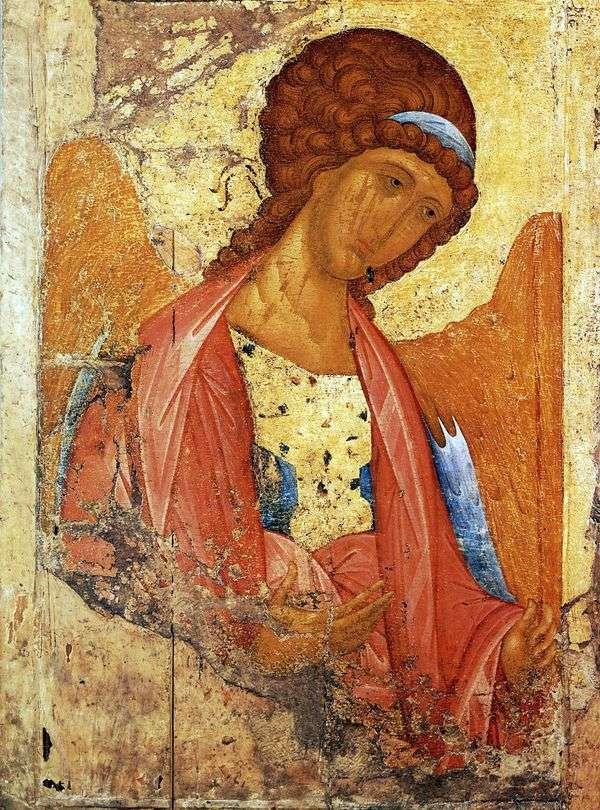 Архангел Михаил из деисусного чина   Андрей Рублев
