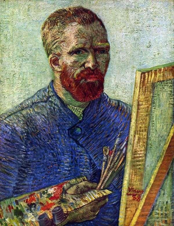 Автопортрет перед мольбертом   Винсент Ван Гог