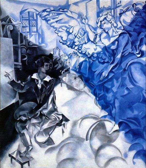 Автопортрет с музой (Сон)   Марк Шагал