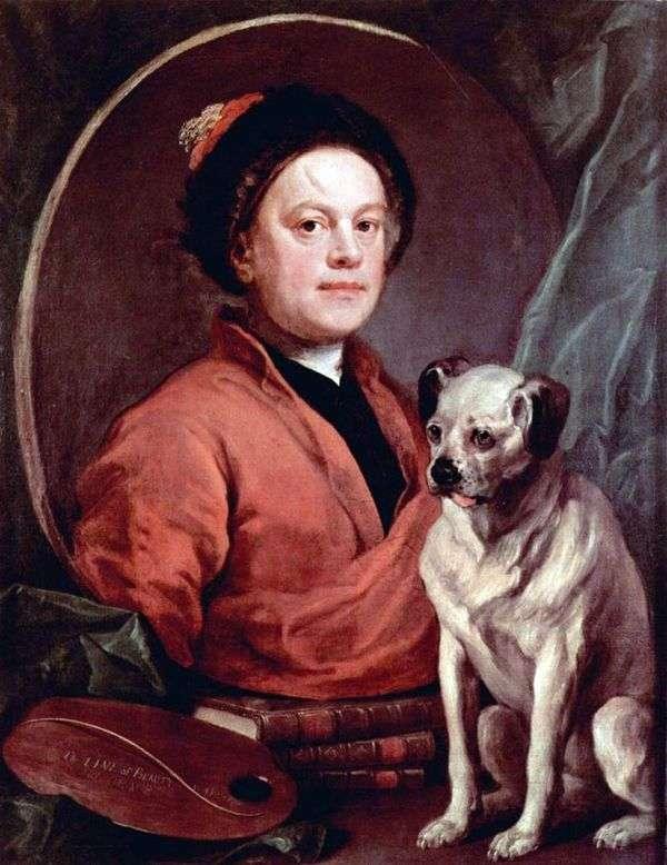 Автопортрет с собакой   Уильям Хогарт