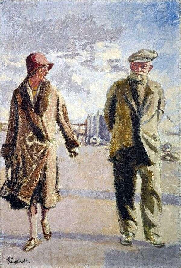 Автопортрет с женой   Уолтер Ричард Сиккерт