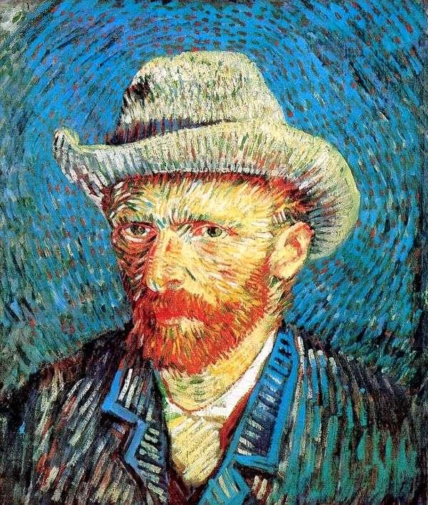 Автопортрет в фетровой шляпе   Винсент Ван Гог