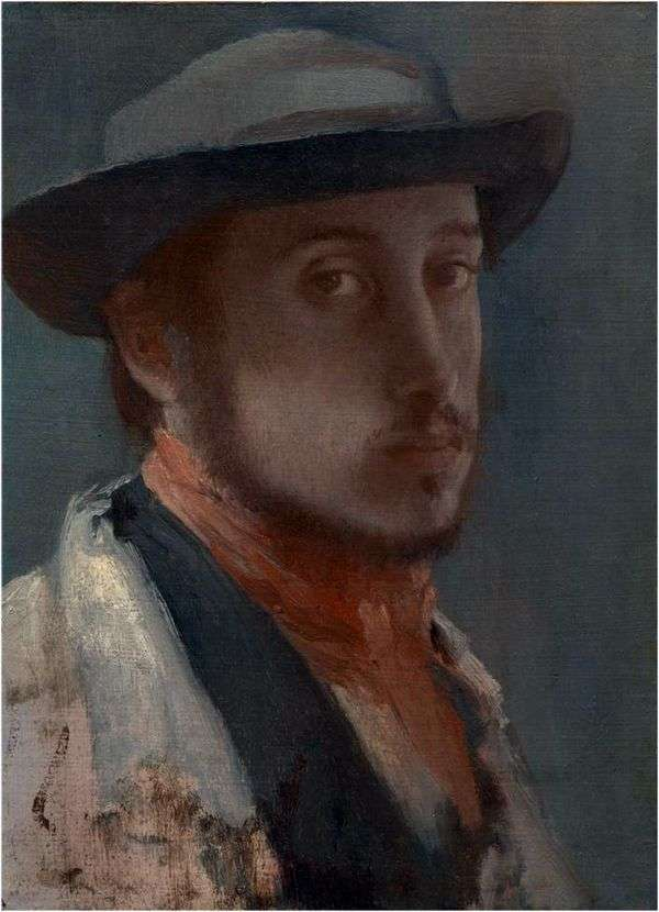 Автопортрет в мягкой шляпе   Эдгар Дега