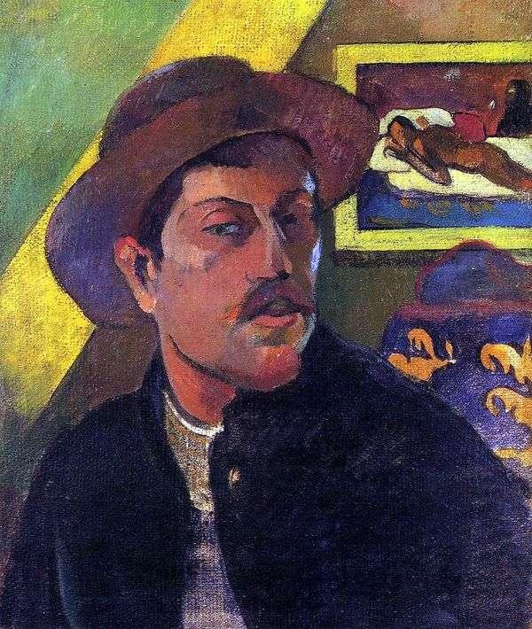 Автопортрет в Шляпе   Поль Гоген