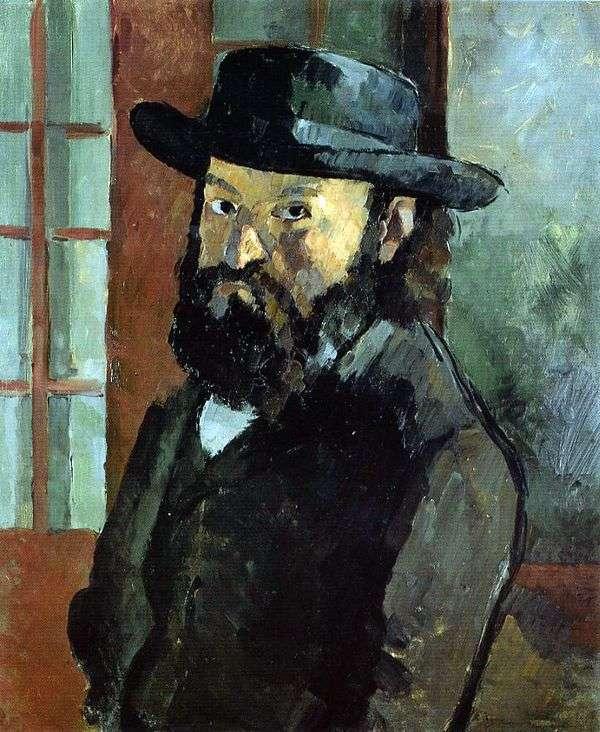 Автопортрет в шляпе   Поль Сезанн
