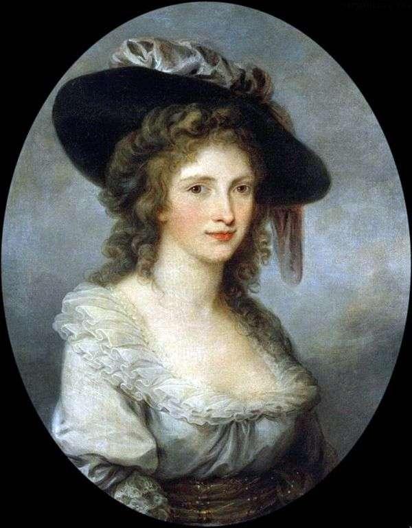 Автопортрет в шляпе с шелковым бантом   Ангелика Кауфман
