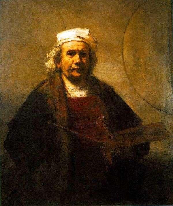 Автопортрет за работой   Рембрандт Харменс Ван Рейн