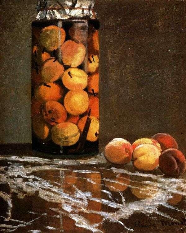 Банка с персиками   Клод Моне