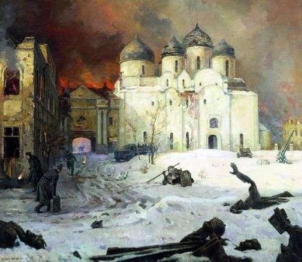 Бегство фашистов из Новгорода   Кукрыниксы