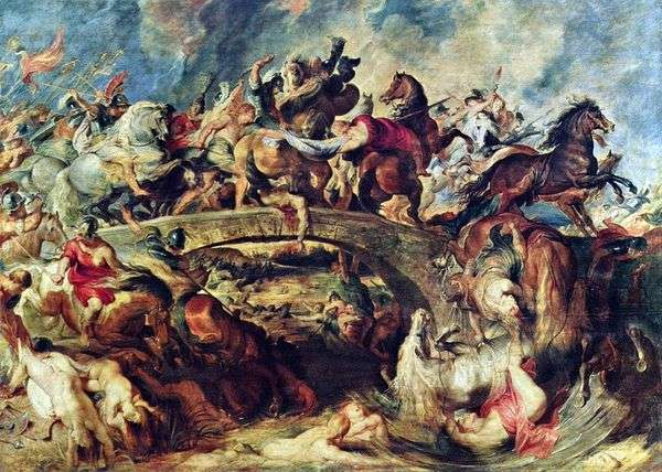 Битва греков с амазонками   Питер Рубенс