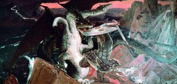Битва Ивана царевича с трехглавым Змеем   Виктор Васнецов