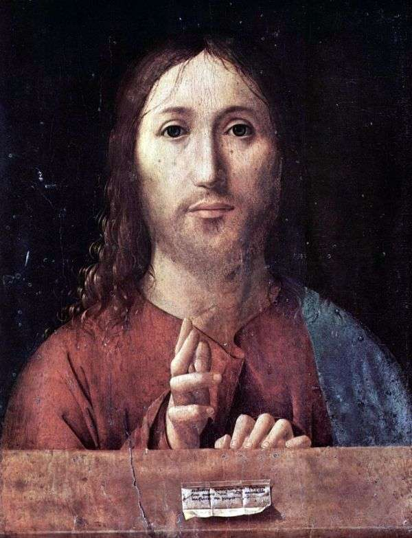 Благословляющий Христос   Антонелло да Мессина