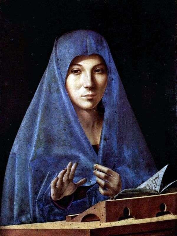 Благовещение   Антонелло да Мессина