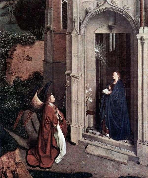 Благовещение у церкви   Ян ван Эйк