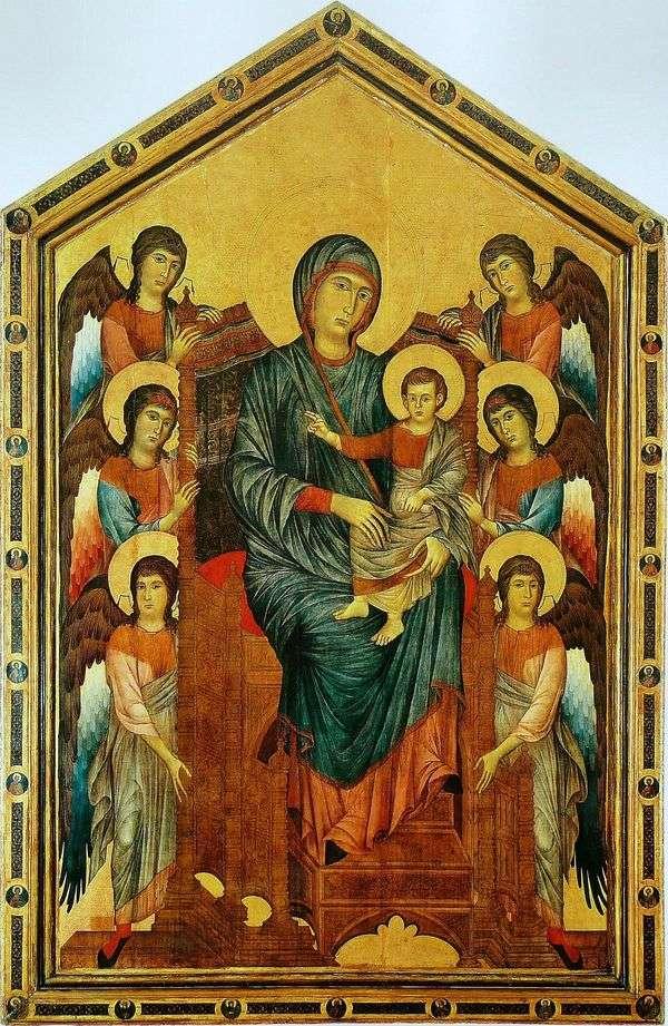 Богоматерь с Младенцем на троне в окружении ангелов   Ченни Ди Пепо