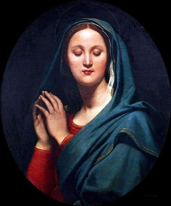 Богородица в синей вуали   Жан Огюст Доминик Энгр