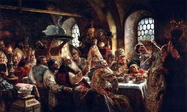 Боярский свадебный пир XVII века   Константин Маковский