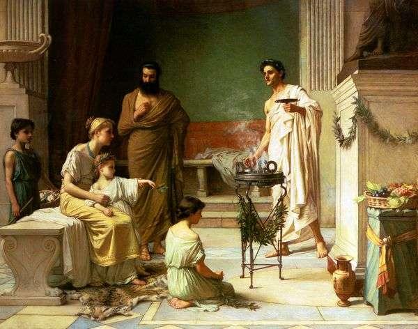 Больной Ребенок, Принесенный в Храм Эскулапа   Джон Уотерхаус