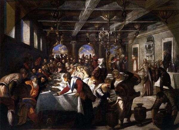Брак в Кане Галилейской   Якопо Тинторетто