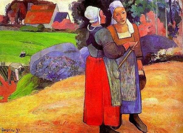 Бретонские крестьянки   Поль Гоген