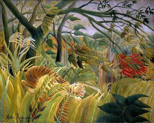 Буря в джунглях   Анри Руссо