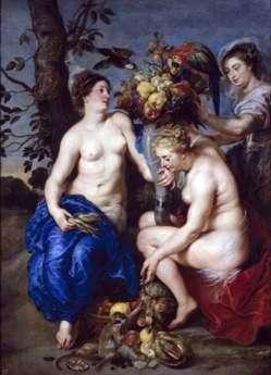Церера и две нимфы   Питер Рубенс