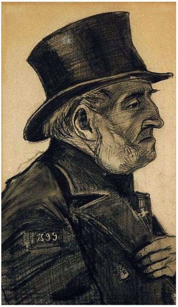 Человек из приюта, в цилиндре   Винсент Ван Гог