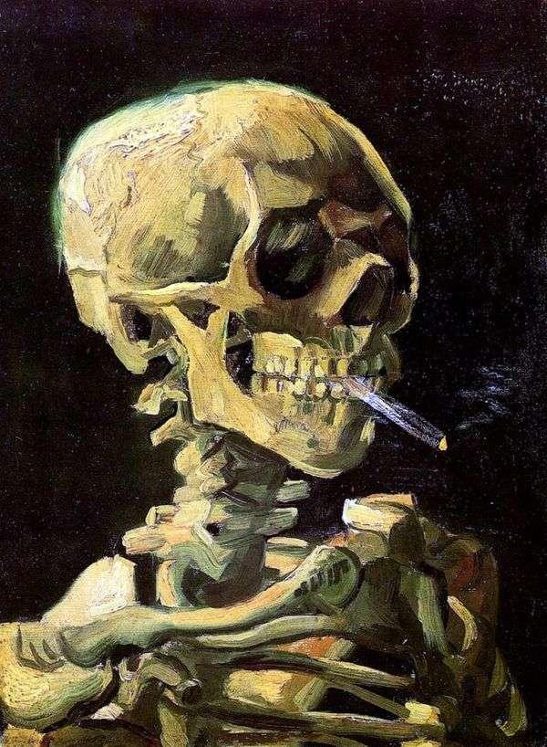 Череп с горящей сигаретой   Винсент Ван Гог
