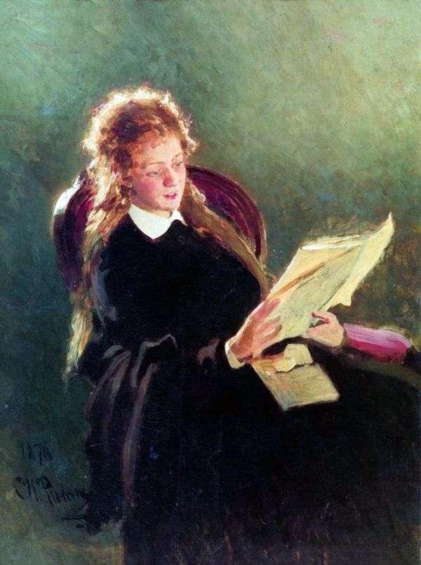 Читающая девушка   Илья Репин