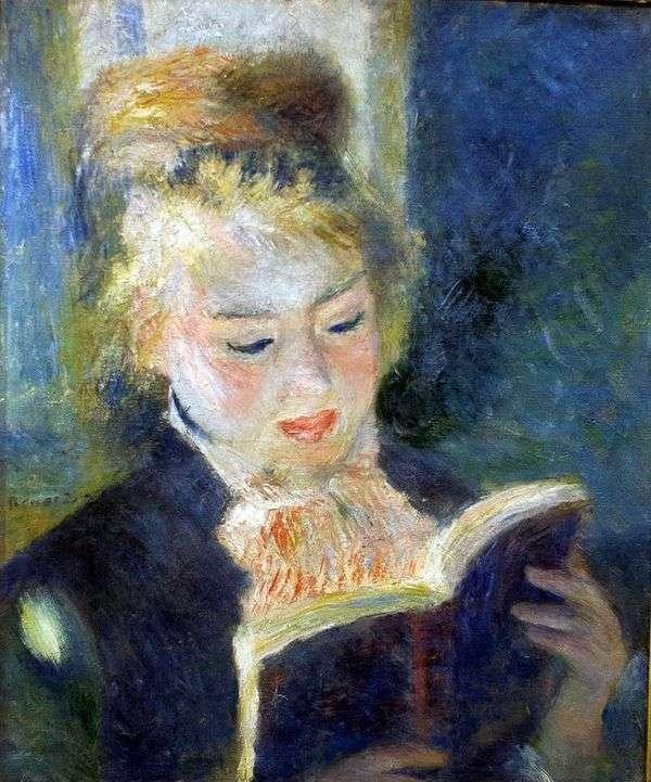Читающая девушка   Пьер Огюст Ренуар