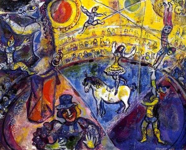 Цирковая лошадь   Марк Шагал
