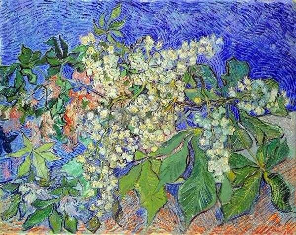 Цветущие каштановые ветви   Винсент Ван Гог
