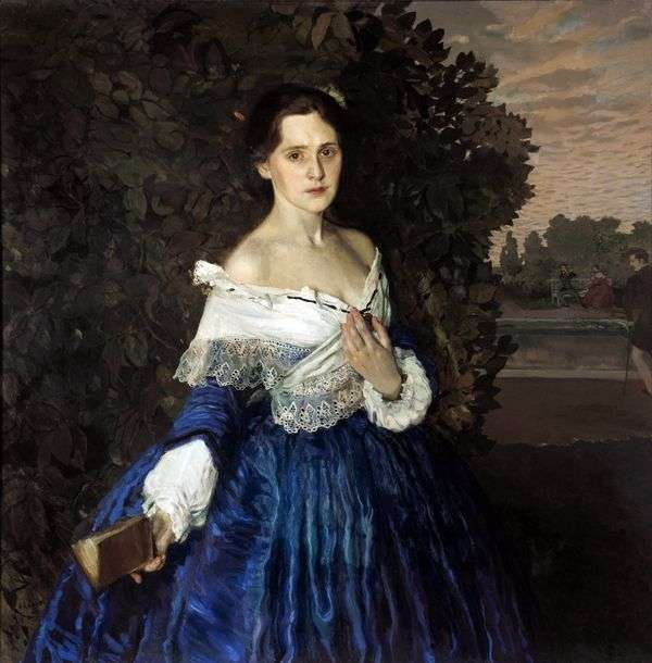 Дама в голубом (Портрет художницы Е. М. Мартыновой)   Константин Сомов