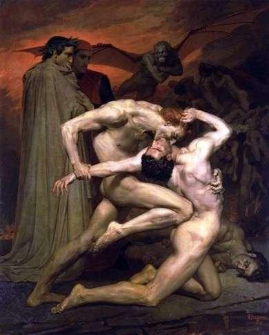 Данте и Вергилий в Аду   Адольф Бугеро