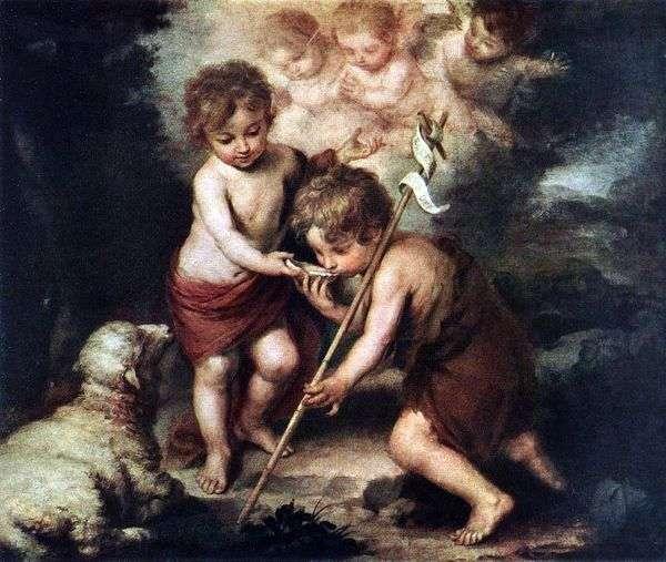 Дети с овечкой   Бартоломео Эстебан Мурильо
