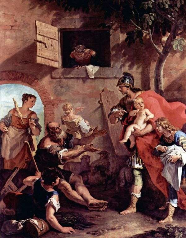 Детство царя Кира   Себастьяно Риччи