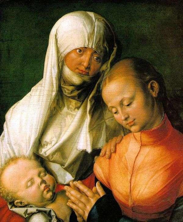 Дева Мария с младенцем и святой Анной   Альбрехт Дюрер