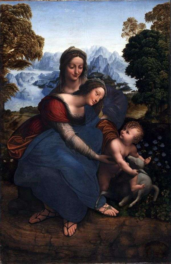 Дева Мария с ребенком и Св. Анна   Леонардо да Винчи