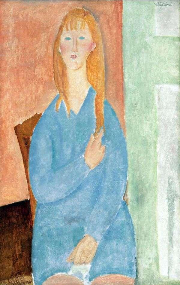 Девочка в голубом платье   Амедео Модильяни