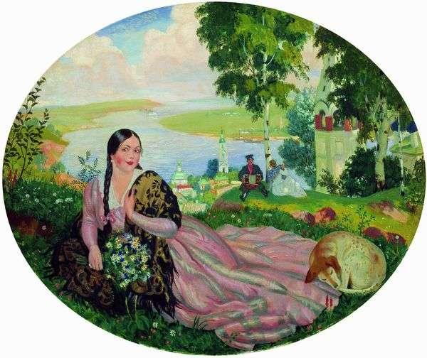 Девушка   Борис Кустодиев