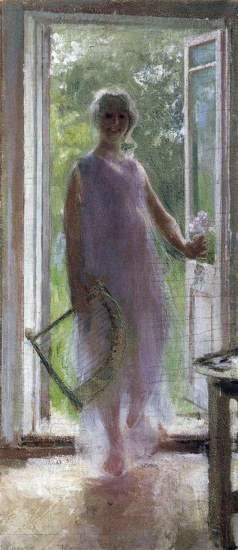 Девушка на пороге   Константин Коровин