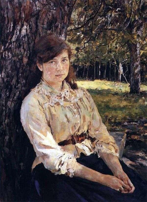Девушка, освещенная солнцем (Портрет М. Я. Симонович)   Валентин Серов