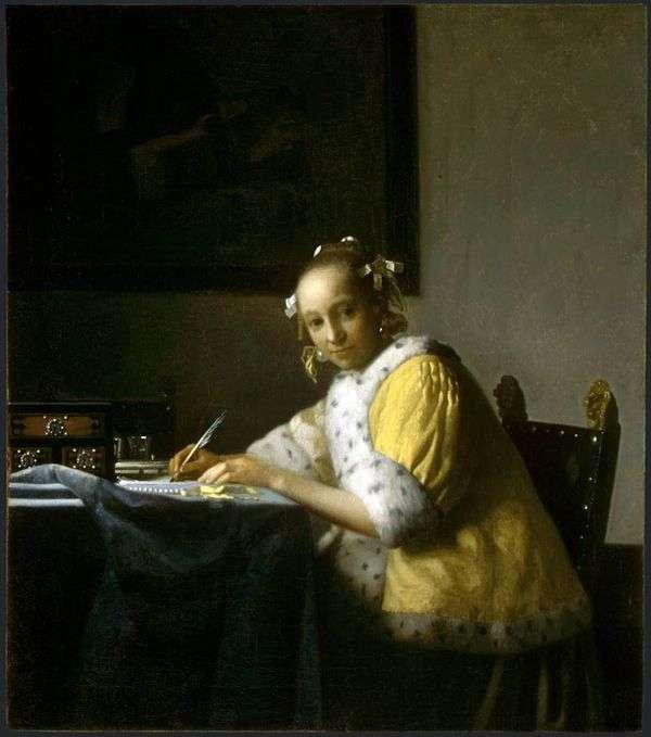 Девушка, пишущая письмо   Ян Вермеер